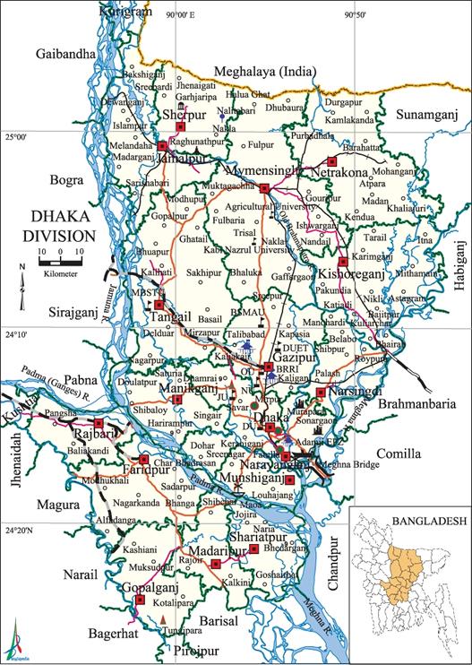 bangladesh map dhaka division Dhaka Division Banglapedia bangladesh map dhaka division